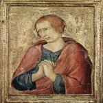 Simone Martini (Siena, 1284 - Avignon, 1344)  St John the Evangelist  Tempera on panel, 1330-1339  34,5 &#215; 24 cm  Barber Institute of Fine Arts German,Birmingham, German